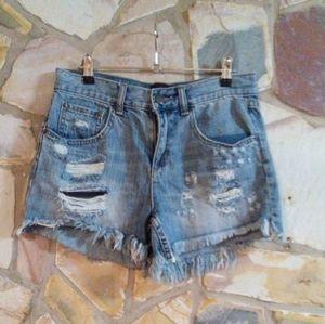 Decjuba denim distressed shorts size 8